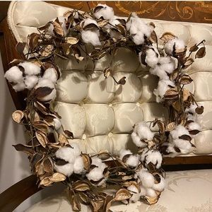 Cotton Plant Fall Wreath